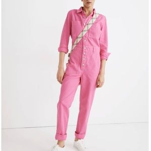 Madewell Garment-dyed Relaxed Coverall Jumpsuit